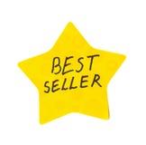 Best seller sticker. Best seller star sticker on white background Stock Image