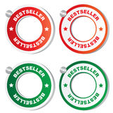 Best seller stickers. On a white background Royalty Free Stock Image