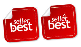 Best seller stickers. With shadow Royalty Free Stock Images