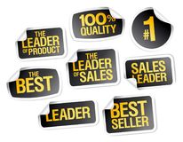 Best seller stickers set. Sale advertisign signs collection Royalty Free Stock Photo