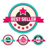 Best Seller Vector Labels Set stock illustration
