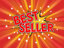 Best Seller, wording in comic speech bubble on burst background Royalty Free Stock Photos