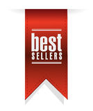 Best sellers banner sign illustration design Royalty Free Stock Image