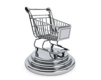 Best Sellers concept. Silver Shopping Cart Royalty Free Stock Photography