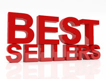 Best sellers. 3d image of best sellers text on white background Stock Images