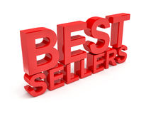 Best sellers. 3d image of best sellers text on white background Royalty Free Stock Image