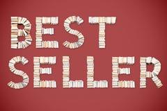 BEST-SELLERwoord van boeken wordt geschikt dat royalty-vrije illustratie