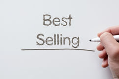 Best selling written on whiteboard Stock Photo