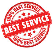 Best service. Stamp over white Royalty Free Stock Photos