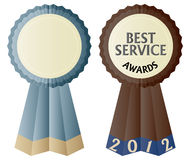 The Best Service Awards Ribbon Illustration. Best Service Awards ribbon design isolated Royalty Free Stock Photos