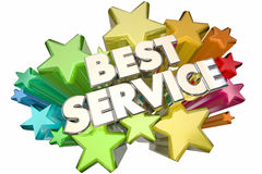Best Service Company Customer Satisfaction Stars Royalty Free Stock Photo