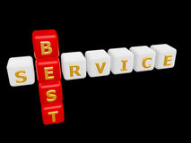 Best service cross word Stock Photo