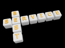 Best service cross word Stock Images