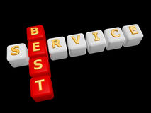 Best service cross word Royalty Free Stock Image