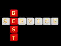 Best service cross word Royalty Free Stock Photography
