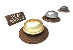 Best Service, golden bell Stock Photos