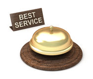 Best Service, golden bell Royalty Free Stock Image