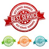 Best Service - Guarantee - Badge in different colours. Eps10 Vector Seal Stock Images