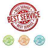 Best Service - Guarantee - Onlineshop Badge in different colours. Eps10 Vector vector illustration
