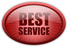 Best service icon. On white background Royalty Free Stock Image