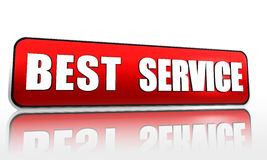 Best service in red banner Stock Photography