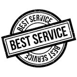 Best Service rubber stamp Royalty Free Stock Images