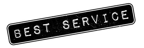 Best Service rubber stamp Royalty Free Stock Photo