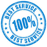 Best service rubber stamp Royalty Free Stock Photos