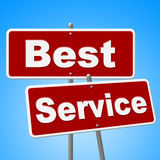 Best Service Signs Means Number One And Advice Royalty Free Stock Photos