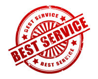 Best service stamp concept 3d illustration Stock Images