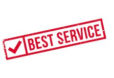 Best service stamp Royalty Free Stock Images