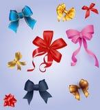 Best set kolorowy prezent ono kłania się z faborkami Royalty Ilustracja