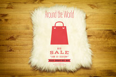 Best shopping tour. Design template with paper bags Royalty Free Stock Images