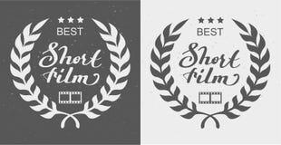 Best short film. Laurel Wreath Award. Illustration in vector format Stock Photos