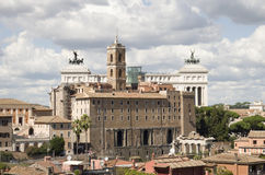 Best sights of Rome Coliseum Pantheon forum Royalty Free Stock Photos