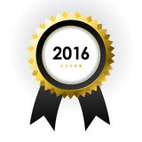 Best of 2016 sign. Special label with ribbons - best of 2016 sign stock illustration