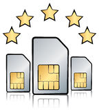 The best sim card, five stars Stock Image