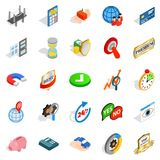 Best solution icons set, isometric style. Best solution icons set. Isometric set of 25 best solution vector icons for web isolated on white background Stock Image