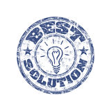 Best solution rubber stamp Royalty Free Stock Image