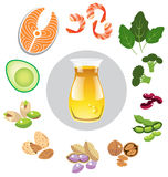 Best sources of omega 3 Stock Photos