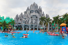 Best in South Vietnam water and amusement park Suoi Tien Royalty Free Stock Images