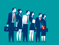 Best special business team. Concept business illustration. Vector flat Royalty Free Stock Image