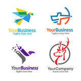Best sport  consulting Logo Set Stock Photography