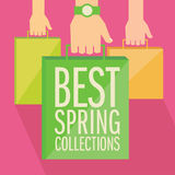 Best spring collections flat design. Stock Photography