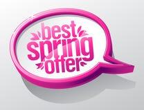 Best spring offer speech bubble symbol Stock Photos