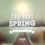 The Best Spring typographic design with colourful  Stock Photo