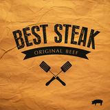 Best Steak  label Royalty Free Stock Photo