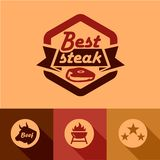 Best steak labels Royalty Free Stock Photography