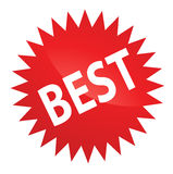 Best Sticker. Best Web 2.0 Red Sticker for Brand Productions Stock Image