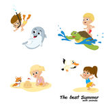 The best summer with animal Royalty Free Stock Photo